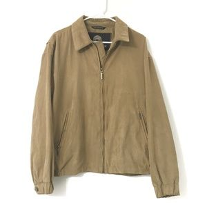 Weatherproof Suede Feel Bomber Tan Jacket Size: L